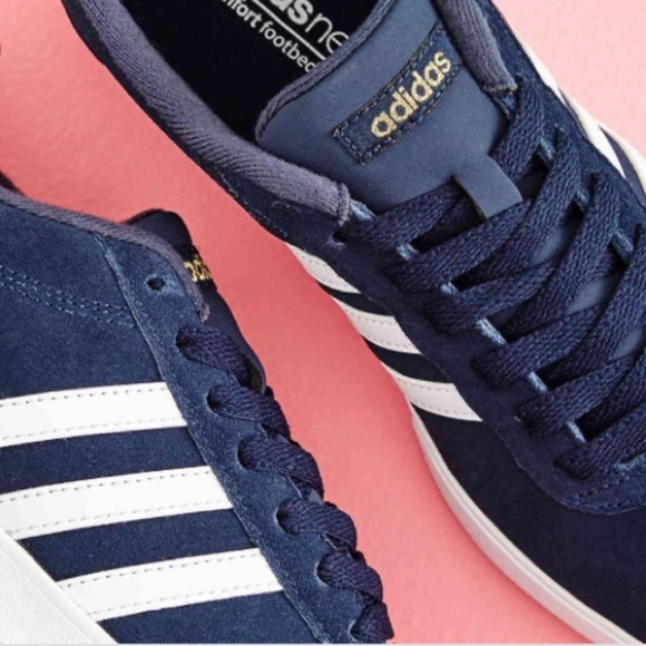 Adidas Neo Comfort Footbed Blue Suede